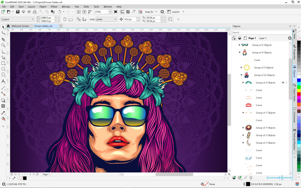 CorelDRAW2020-Windows-Illustration-Objects-docker-EN
